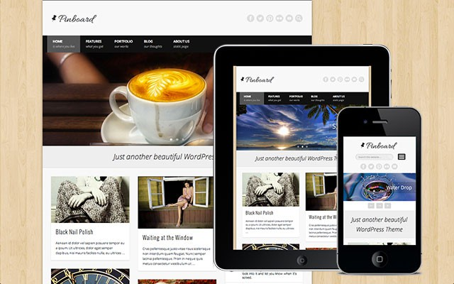 Pinboard Free WordPress Theme - One Designs