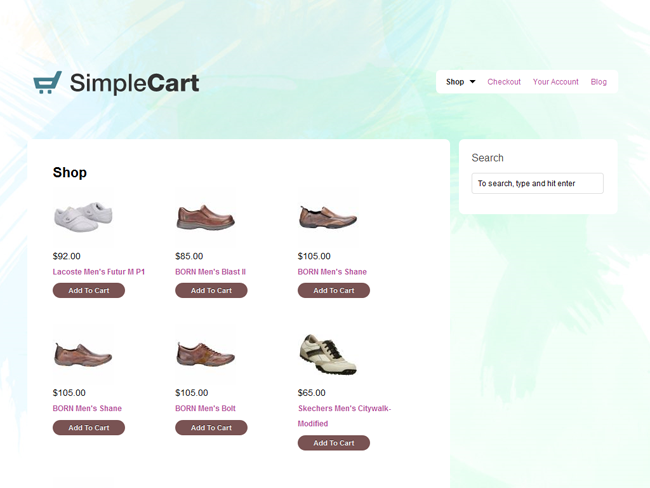 SimpleCart Child Theme