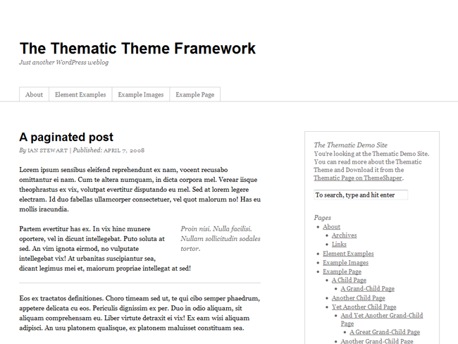 Thematic Theme Framework
